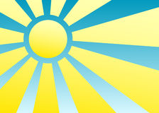 Sun e raias Imagens de Stock