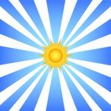 Sun e raias ilustração stock