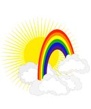 Sun e Rainbow Fotografie Stock Libere da Diritti