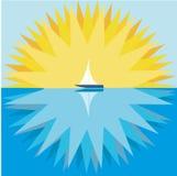 Sun e sailboat Fotos de Stock Royalty Free