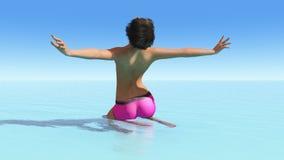 Sun e spiaggia Fotografia Stock