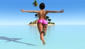 Sun e spiaggia Fotografia Stock Libera da Diritti