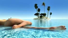 Sun e spiaggia Fotografie Stock Libere da Diritti