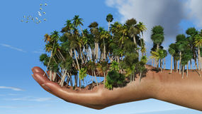 Sun e spiaggia Immagine Stock Libera da Diritti