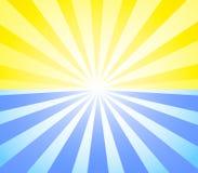 Sun e sunburst Foto de Stock