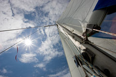 Sun e vele Fotografia Stock Libera da Diritti