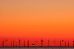 Sun e vento Imagens de Stock