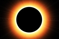 Sun eclipse. Abstract illustration of a sun eclipse stock illustration