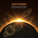 Sun eclipse vector abstract background Stock Photos