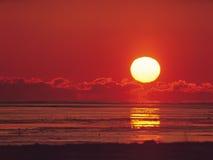 Sun ed alba Immagini Stock Libere da Diritti