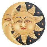 Sun ed antico della luna scolpito Fotografia Stock Libera da Diritti