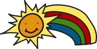 Sun ed arcobaleno Immagini Stock
