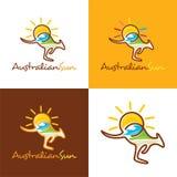 Sun ed estate australiani Illustrazione di Stock