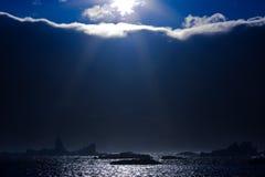 Sun ed iceberg Immagine Stock