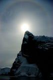 Sun ed iceberg Fotografie Stock Libere da Diritti