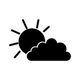 Sun ed icona della nuvola Immagine Stock Libera da Diritti