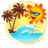 Sun ed immagine calda di festa Immagini Stock