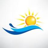 Sun ed onda di acqua royalty illustrazione gratis