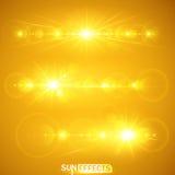 Sun-Effekte Lizenzfreie Stockfotografie