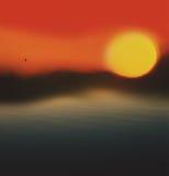 Sun en brume Image libre de droits