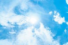 Sun en cielo Imágenes de archivo libres de regalías