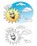 Sun en el cielo Foto de archivo