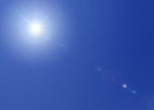 Sun en el cielo Imágenes de archivo libres de regalías