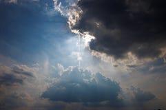 Sun en el cielo Fotografía de archivo libre de regalías