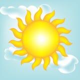 Sun en el cielo claro Imágenes de archivo libres de regalías