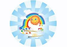 Paleta del arco iris de Sun stock de ilustración