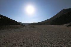 Sun en el desierto Foto de archivo libre de regalías