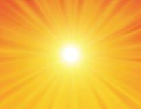 Sun en fondo amarillo Imágenes de archivo libres de regalías