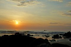 Sun en la playa Imagen de archivo