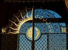 Sun en las puertas Imagen de archivo