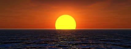 Sun en mer Photo libre de droits