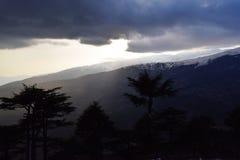 Sun en nubes Fotos de archivo