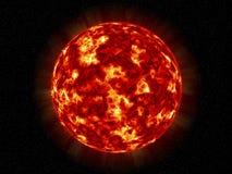 The Sun en sterren Royalty-vrije Stock Afbeelding