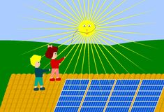 Sun-Energie Lizenzfreie Stockfotos