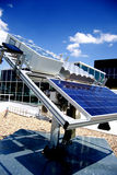 Sun-Energie in der Hand Stockbilder