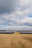 Sun energy collectors. And blue sky over Stock Photos