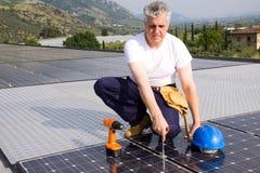 Sun energy craftsman Royalty Free Stock Photography