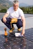 Sun energy craftsman Royalty Free Stock Image