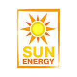 Sun energy icon vector illustration. Royalty Free Stock Images