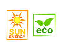 Sun energy icon vector illustration. Stock Images