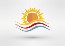 Sun Energy Logo Template Royalty Free Stock Image