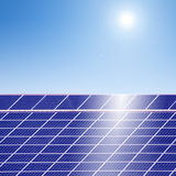 Sun energy-photovoltaic Stock Photography