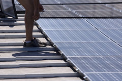 Sun energy Stock Image