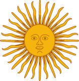 Sun enfrenta Ilustração do vetor Imagens de Stock Royalty Free