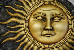 Sun Engraving. A personified sun engraving/decoration royalty free stock photography