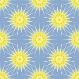 Sun entoure le modèle géométrique Images stock